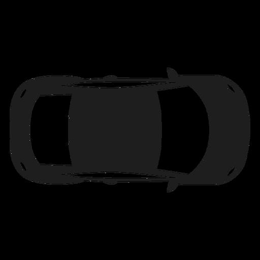 Silhueta de vista superior de carro compacto Transparent PNG