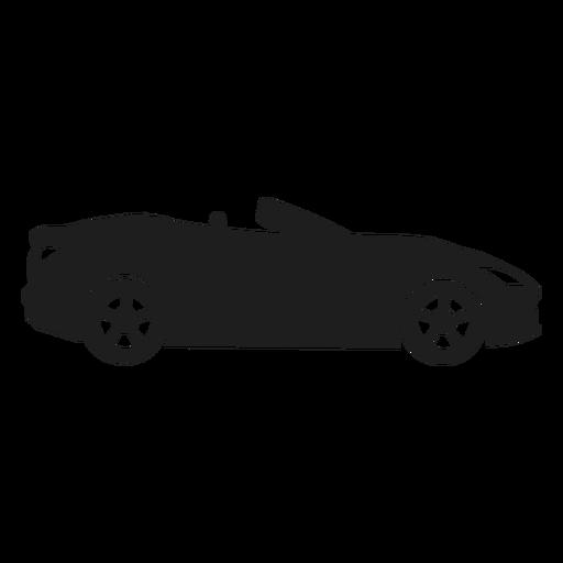 Silhueta de vista lateral de carro conversível Transparent PNG
