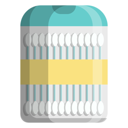 Cotton swabs travel size icon