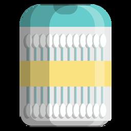 Icono de tamaño de viaje de hisopos de algodón