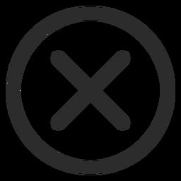 Icono de trazo de marca de verificación cruzada