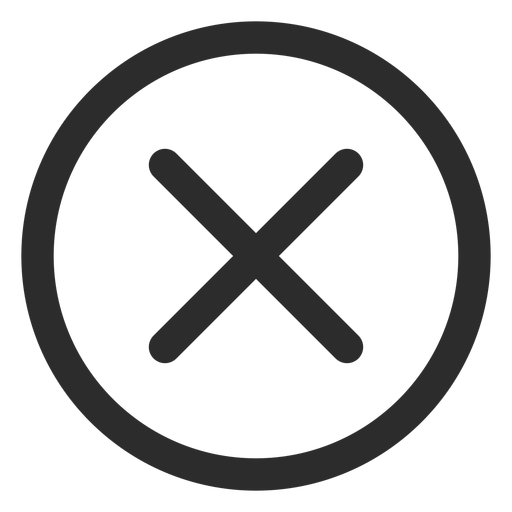 Cross check mark stroke icon Transparent PNG
