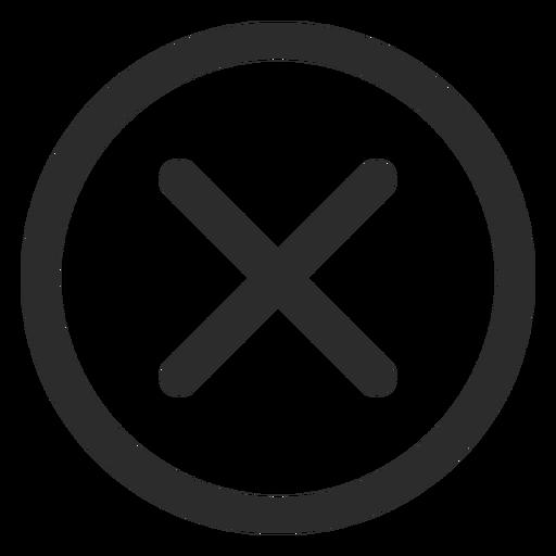 Icono de trazo de marca de verificaci?n cruzada