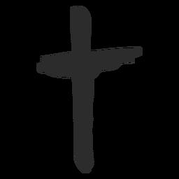 Icono de cruz doodle