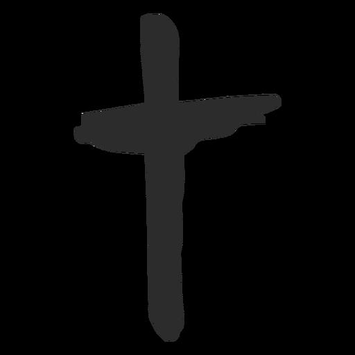 Icono de cruz doodle Transparent PNG
