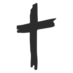 Cross hand drawn icon