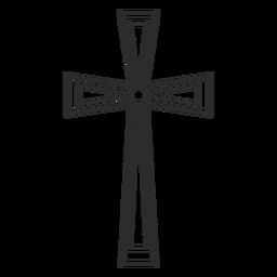 Religión cristiana elemento de cruz