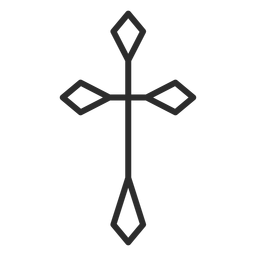Cross stroke icon