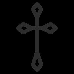 Ícone de traço cruzado
