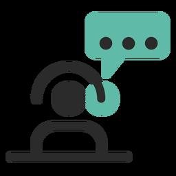 Icono de contacto de atención al cliente