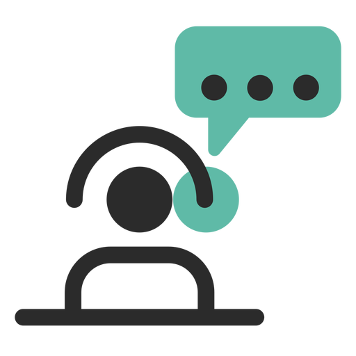 Customer support contact icon Transparent PNG