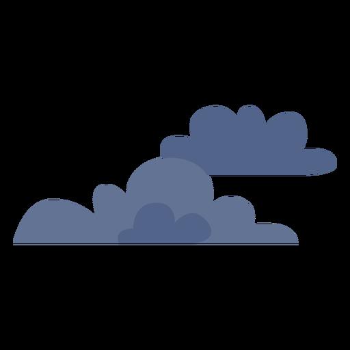 Icono de nubes oscuras Transparent PNG