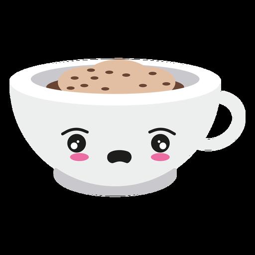 Decepcionado kawaii cara taza de café Transparent PNG