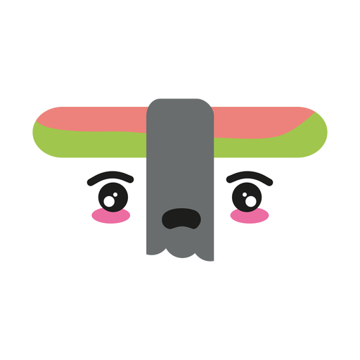 Disappointed kawaii face sushi nigiri Transparent PNG