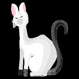Ilustração de gato enojado