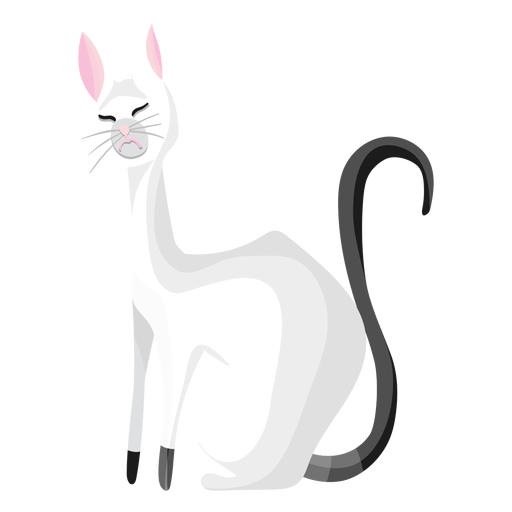 Disgusted cat illustration Transparent PNG