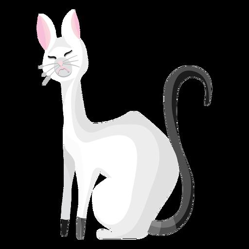 Ilustração de gato enojado Transparent PNG