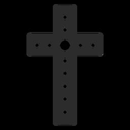 Icono de cruz cristiana punteada