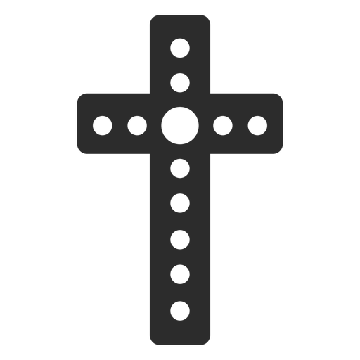 Dotted christian cross icon Transparent PNG