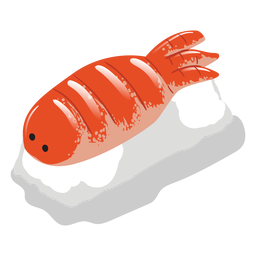 Ebi shrimp sushi icon