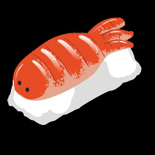 Ebi shrimp sushi icon Transparent PNG