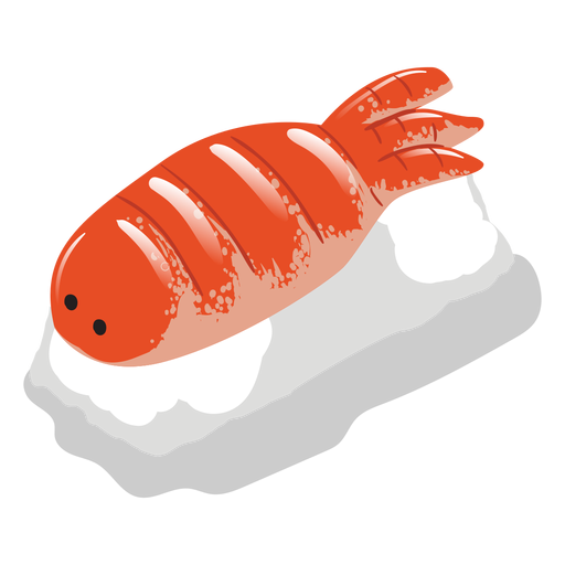 Icono de sushi de camarón Ebi Transparent PNG