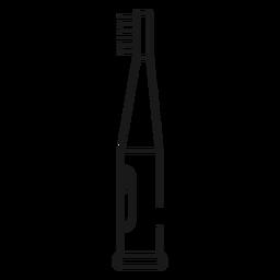 Icono de trazo de cepillo de dientes eléctrico
