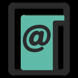 Icono de contacto de correo electrónico