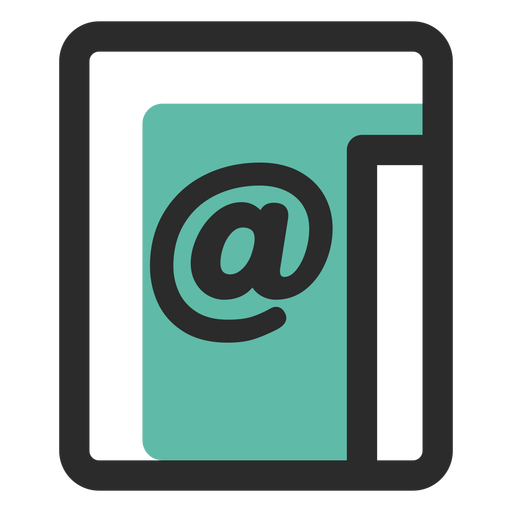 Email contact icon Transparent PNG