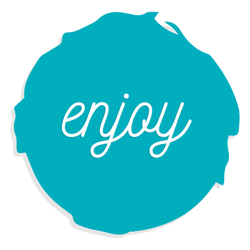 Enjoy circle sign Transparent PNG
