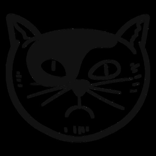 Envidia gato dibujado a mano avatar Transparent PNG