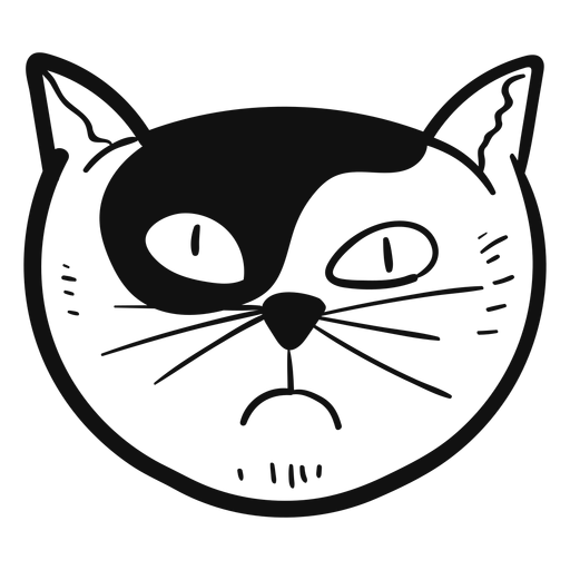 Envy cat hand drawn avatar Transparent PNG
