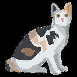 Ilustração de gato gato de pelo curto Europeu