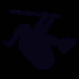 Silueta de entrenamiento de crossfit femenino