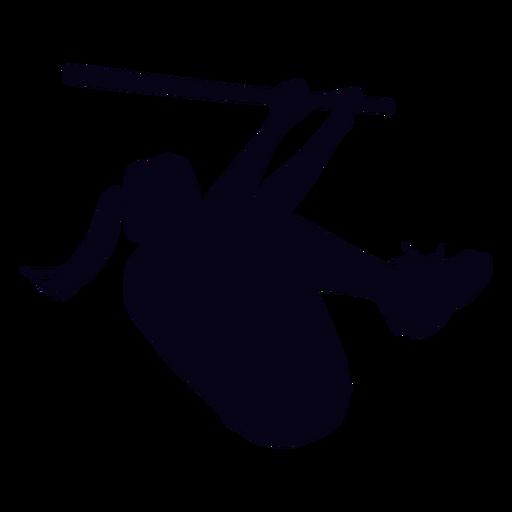 Silueta de entrenamiento de crossfit femenino Transparent PNG
