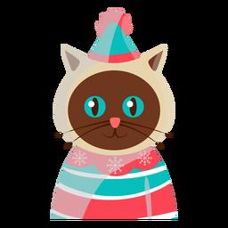 Icono de gato festivo