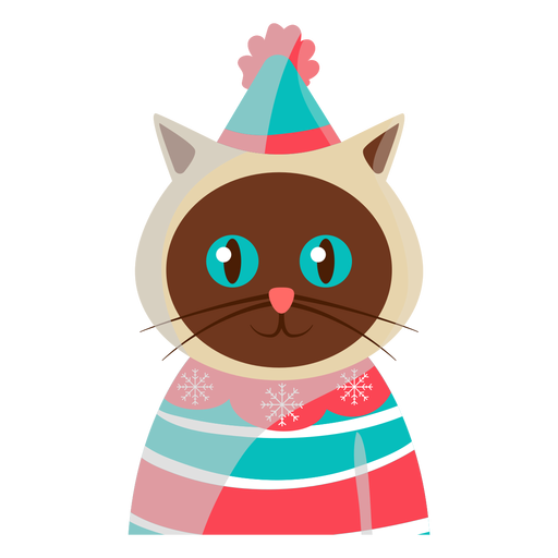 Festive cat icon Transparent PNG