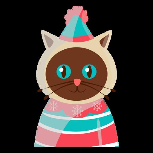 Icono de gato festivo Transparent PNG