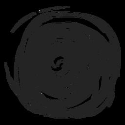 Gefüllter Kreis Gekritzel