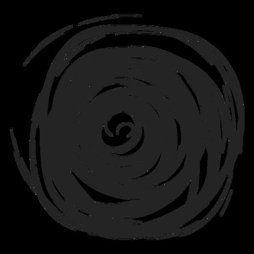 Doodle de círculo lleno