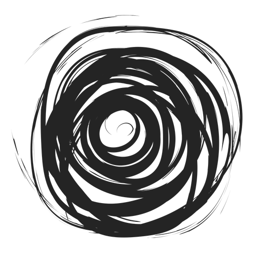 Filled circle doodle Transparent PNG