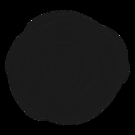 Filled circle doodle element Transparent PNG