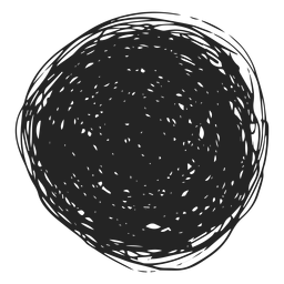 Ícone de doodle de círculo preenchido