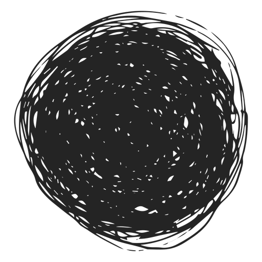 Filled circle doodle icon Transparent PNG