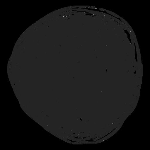 Icono de doodle de círculo lleno