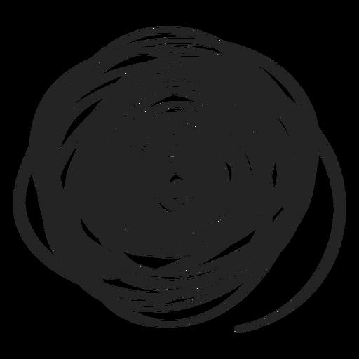 Garabato de círculo lleno Transparent PNG