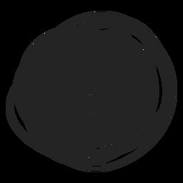 Círculo relleno elemento de garabato