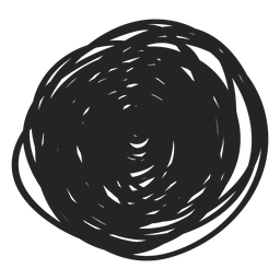 Elemento de rabisco de círculo preenchido