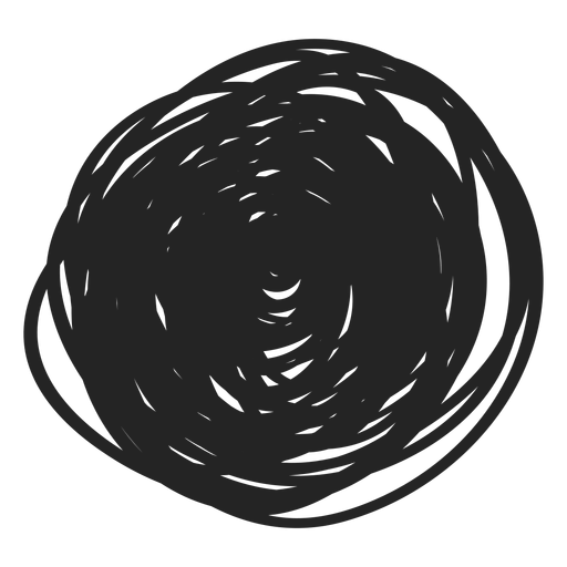 Filled circle scribble element Transparent PNG