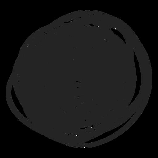 Gefülltes Kreis-Scribble-Element Transparent PNG